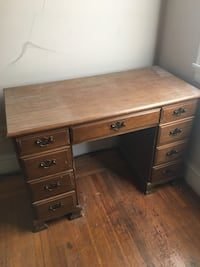 Desk with wood chair