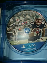 Madden NFL 17 PS4 game disc