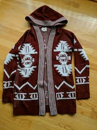 Small aztec print hooded cardigan  Burlingame, 94010