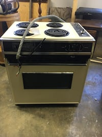 Drop in electric stove