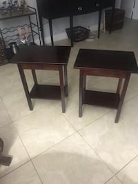 Pair side tables  Fort Lauderdale, 33308