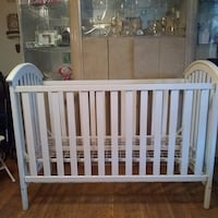 Adelyn Baby Relax 2 in 1 Converible Crib White PHILADELPHIA