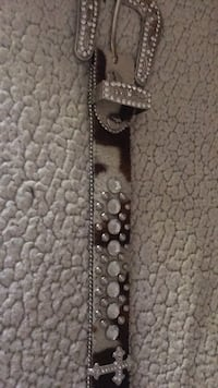 Bhw belt size medium beaded with crosses and has cow fur Atascadero, 93422