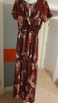 Women's red and black floral sleeveless dress Fort Mill