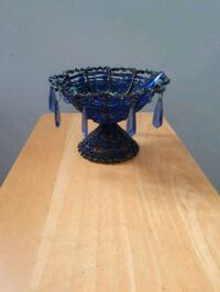 Blue plastic beaded candy dish St. Catharines, L2R 5X1
