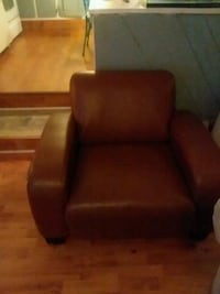 brown leather sofa chair with ottoman Fort Myers, 33908