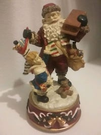 Santa and toys music figurine