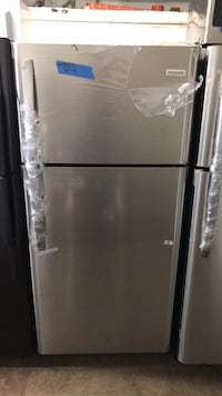 "New 30"" top and bottom refrigerator 6 months warranty"