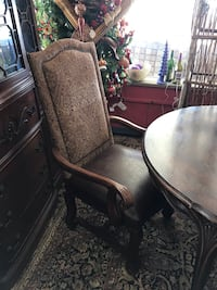 Set/6 Bernhardt Leather/Fabric Chairs