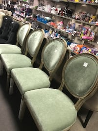 four gray padded chairs with black metal base Indianapolis, 46268