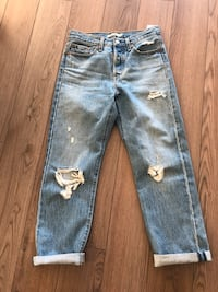 Levi's Straight Leg Ripped Jeans Size 26