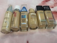 all Maybelline foundations and one almay Barrie, L4N 6B6