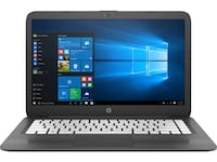 Grey and white HP laptop 479 mi