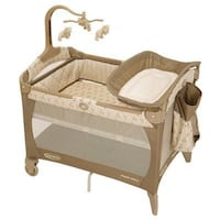 baby's brown and white travel cot Mount Airy, 21771