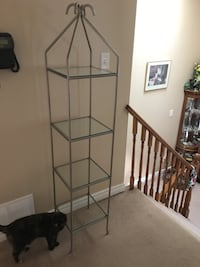 2 pewter colour metal glass shelves   Kitchener, N2P 2L9