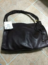 New with tags dark brown leather bag 1480 mi