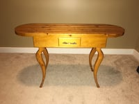UNIQUE Handmade wooden cribbage table - REDUCED