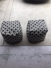 two brown-and-black leopard print containers WESTBANK