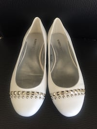 Roberto Vianni White Leather Flats (New) Richmond Hill, L4B 1B1
