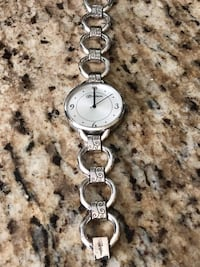 round silver-colored analog watch with link bracelet Springfield, 65810