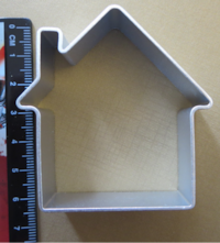 House cookie cutter ~ New 556 km