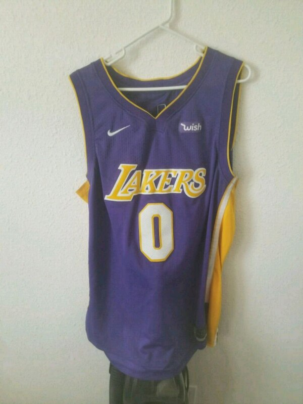 3a99693a923 Used blue and yellow Nike basketball jersey for sale in Bellflower ...