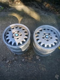 BMW e36 wheels and front bumper