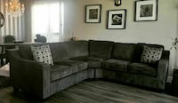 brown fabric sectional sofa with throw pillows Calgary, T2E