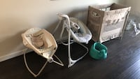 baby's white and gray bouncer Ashburn, 20148