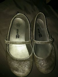 pair of gray leather mary jane shoes Red Deer, T4N 2G5
