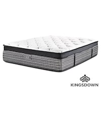 Tufted white and black kingsdown bed mattress