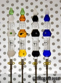 Year end sale  -nector collector, honey straw - choose from 4 colors (bubbler, rig, dab, waterpipe, glasspipe)
