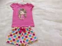 Very cute girls polka dots short & love printed Shirt.  In Excellent Conditions Both size 6