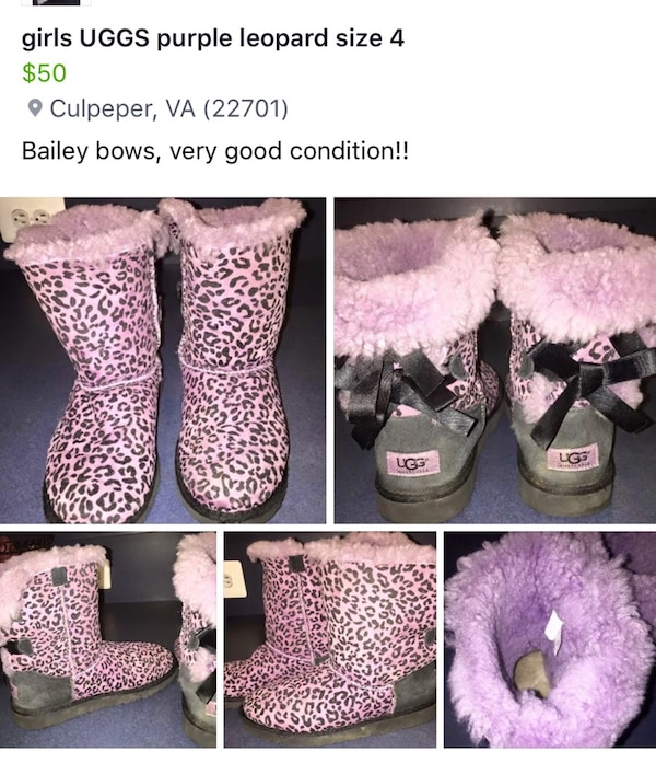 bd9648db5a4b Used pink and black leopard print ugg boots for sale in Culpeper - letgo
