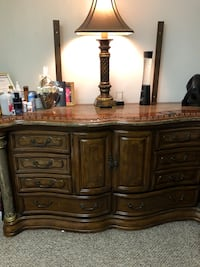 brown wooden dresser with mirror New Carrollton, 20784