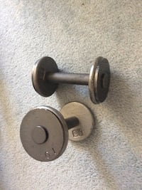 pair of silver dumbbells London, N6C