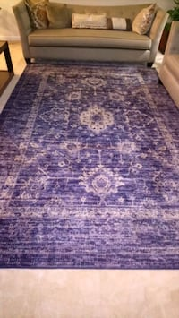 Vintage distressed blue are rug Ashburn