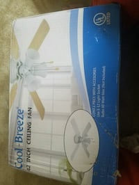 white and blue ceiling fan box Ashburn, 20148