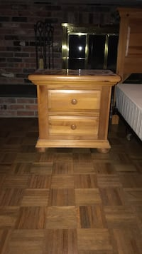 brown wooden 2-drawer nightstand New Rochelle, 10804