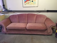 brown fabric 3-seat sofa KELOWNA