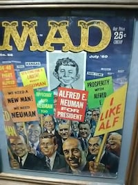 MAD painting with brown frame Underwood, 58576