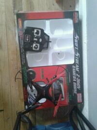 black and red quadcopter drone with box Washington, 20011
