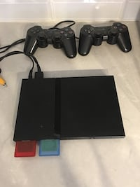PS2 Console + 2 Controllers and 17 games