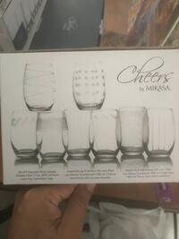 Mikasa Crystal 8 stemless wine glasses Vaughan, L4J 8W4