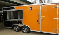 yellow and black enclosed trailer 2255 mi