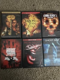 six assorted horror movies Valdosta, 31605