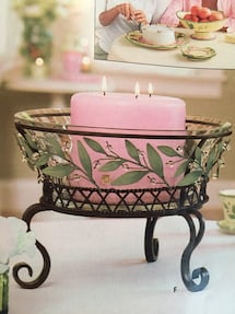 Bowl candle stand
