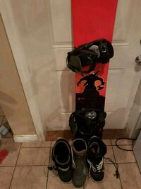 Full Snowboard + Boots Size 12