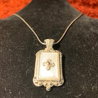 Sterling Silver Rope Chain Sterling Silver Mother of Pearl Pendant Ashburn, 20147