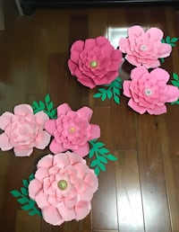 Pink Paper flowers.